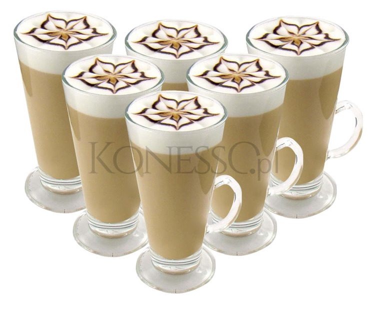 Szklanki do kawy Latte 260 ml - 6szt