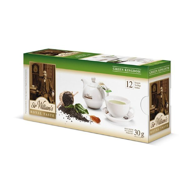 Zielona herbata Sir Williams Royal Taste Green Kingdom 12x2,5g