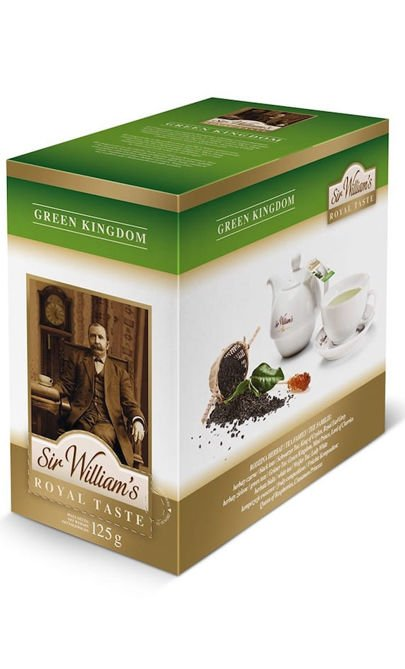 Zielona herbata Sir Williams Royal Taste Green Kingdom 50x2,5g