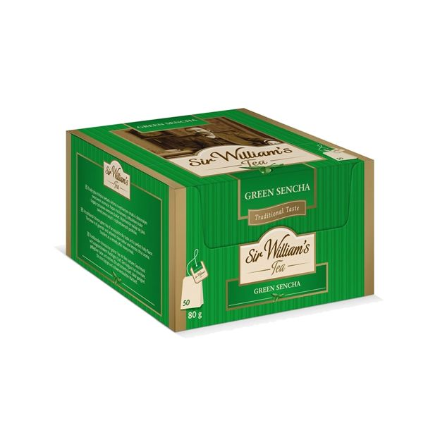 Zielona herbata Sir Williams Tea Green Sencha 50x1,6g