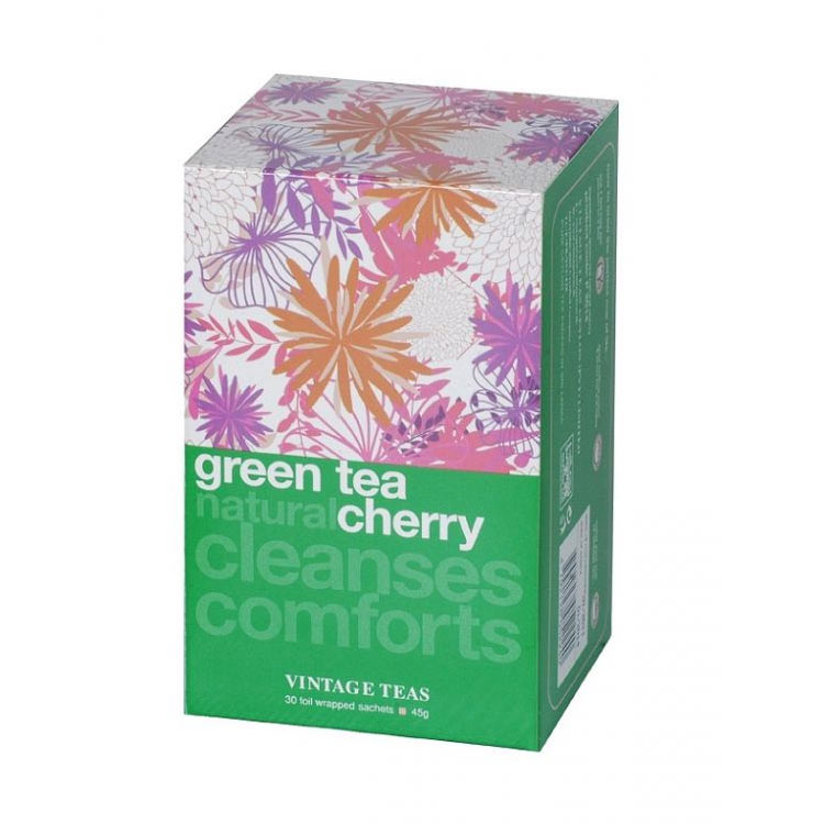 Zielona herbata Vintage Teas Green Tea Natural Cherry - 30x1,5g