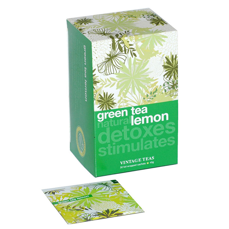 Zielona herbata Vintage Teas Green Tea Natural Lemon - 30x1,5g