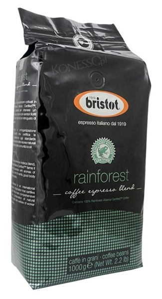 Kawa ziarnista Bristot Rainforest 1kg
