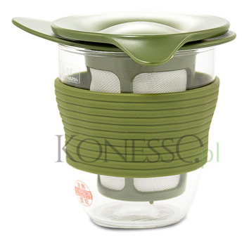 Kubek do herbaty Hario Handy tea maker 200ml - zielony